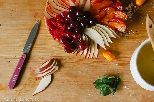 winter fruit tart - Sandra Harris