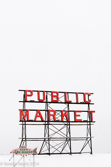 Pike Place Market sign, Seattle - Sandra Harris
