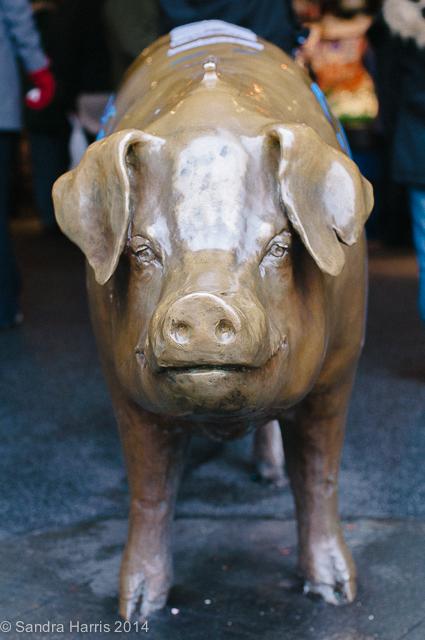 Pike Place Market, lucky pig, Seattle - Sandra Harris