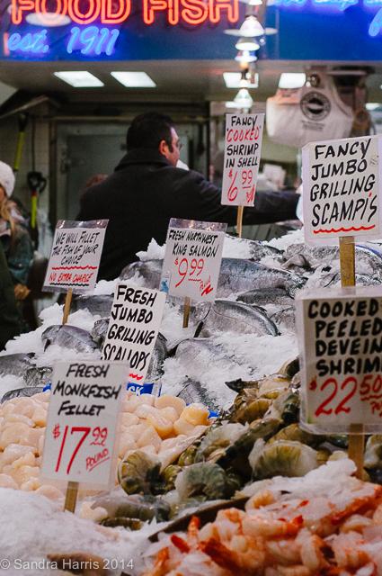 Pike Place Market fresh fish, Seattle - Sandra Harris