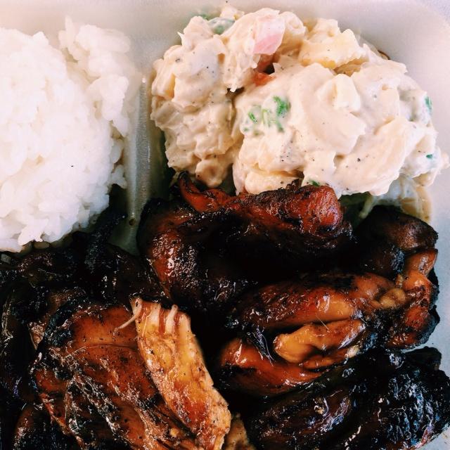 teriyaki chicken, food trucks, Hana, Maui, Hawaii