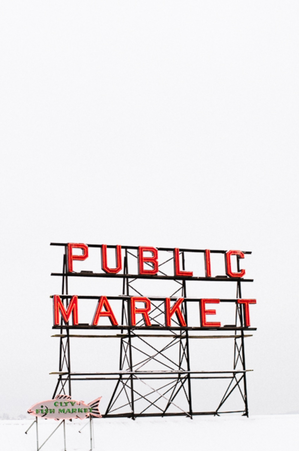 Pike Place Market, Seattle sign