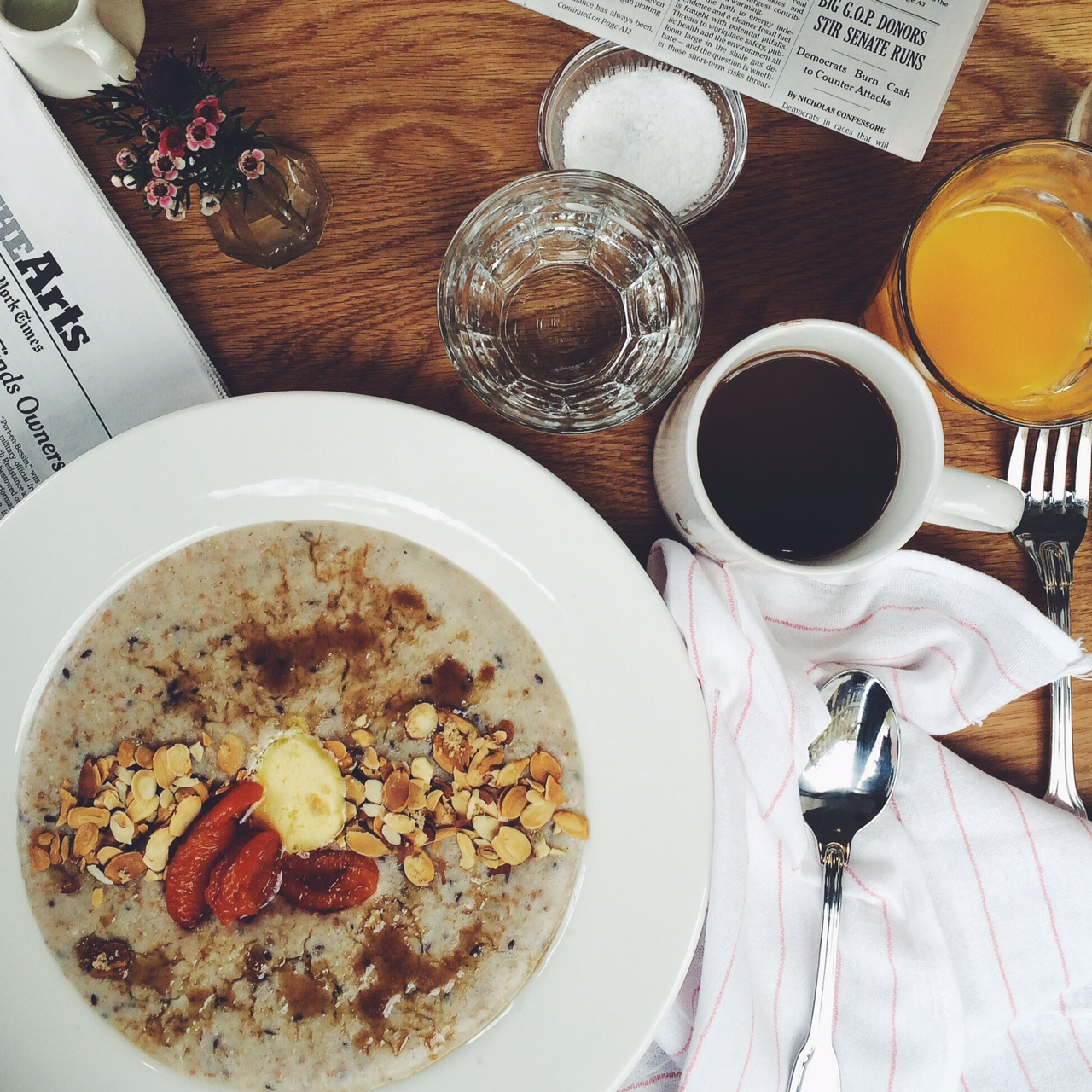 hot cereal breakfast at the London Plane, Seattle - Sandra Harris