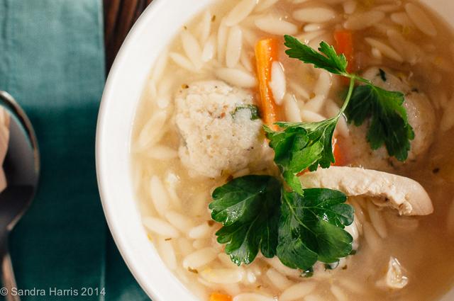 matzoh ball soup with lemon sandra harris