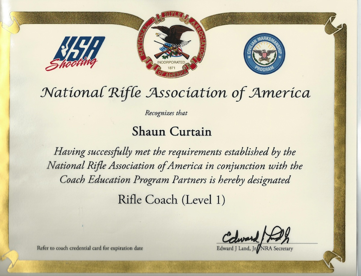 NRA Rifle Coach Certification