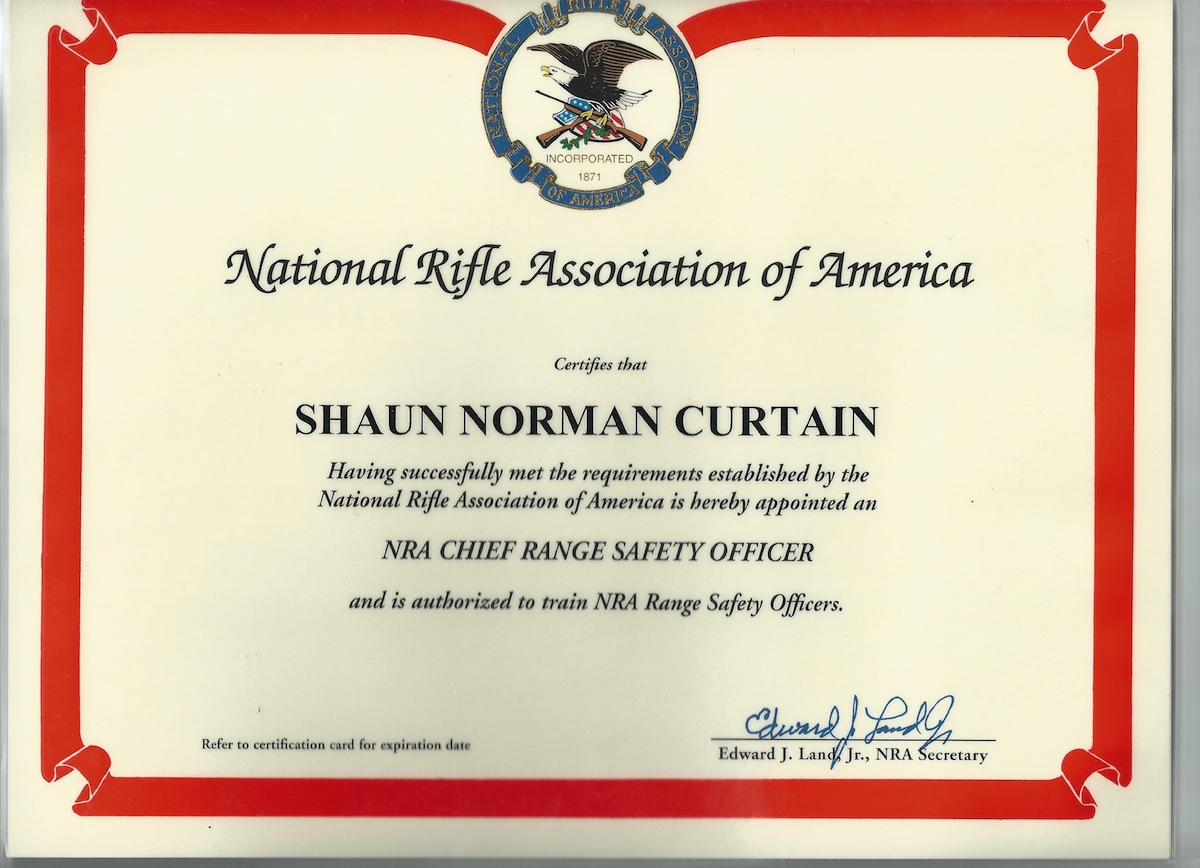 NRA Chief Ranger Safety Officer Certification