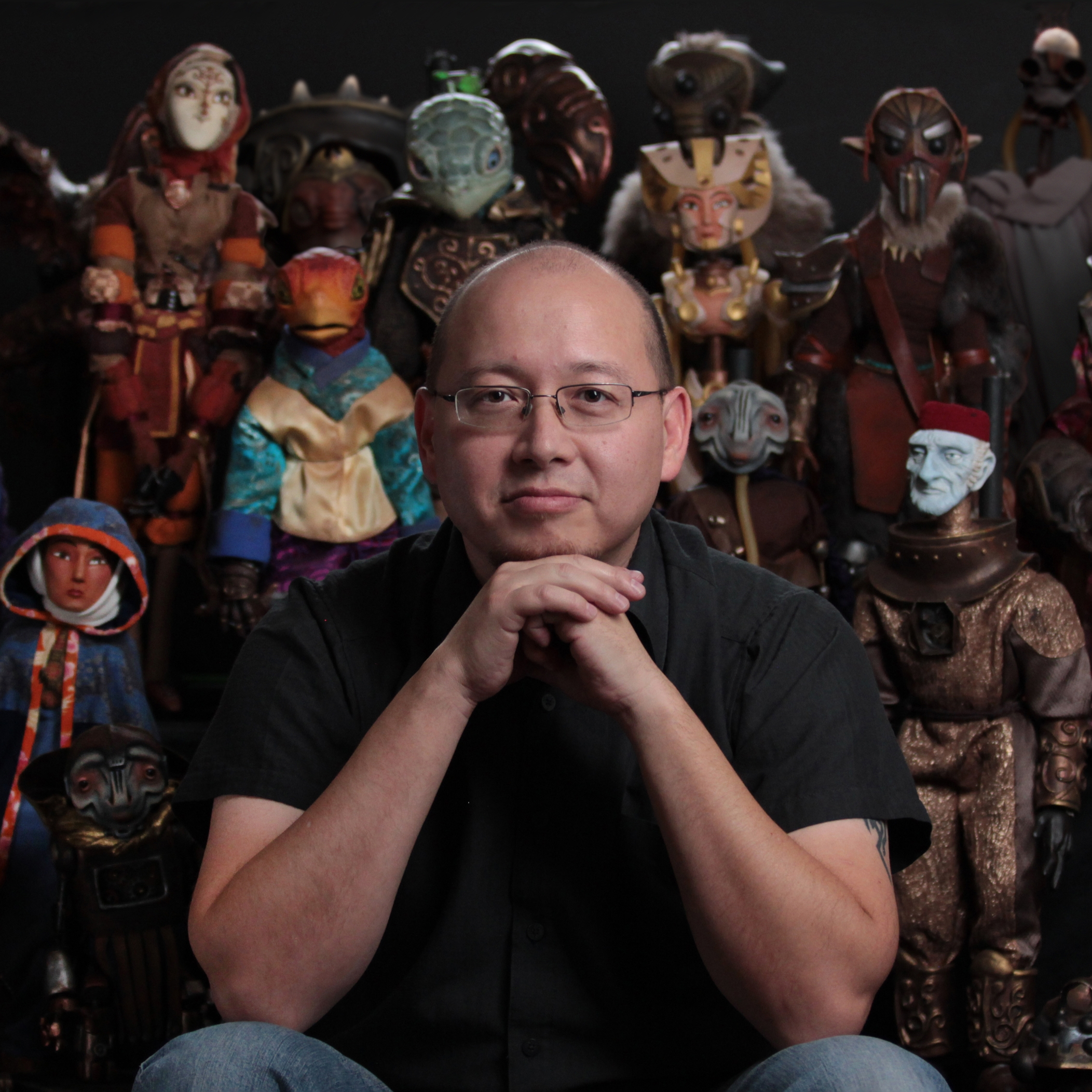 """Sam Koji Hale - Sam Koji Hale is an award-winning director, animator and puppeteer. Sam made his first short film for Jim Henson's daughter Heather called """"Yamasong"""". Seven years later he made the feature """"Yamasong: March of Hollows,"""" produced by Dark Dunes Productions. Sam has produced numerous puppet short films including award-winners """"Narrative of Victor Karloch"""", """"Hitori"""" and """"Lessons Learned."""" He continues to produce films for Heather's Handmade Puppet Dreams series with their new distribution partner at Jim Henson Company, bringing these films to online audiences. Sam's other credits include art director for Cartoon Network's Annoying Orange, Disney Jr's Bite-Sized Adventures of Sam Sandwich (lead VFX artist) and Disney's Team Smithereen (associate producer)."""