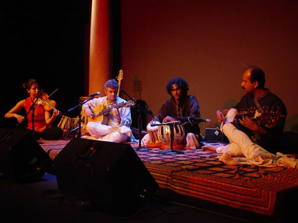 with Melissa Hullman, Violin, Samrat Kakkeri, Tabla, and Soumya Chakraverty, Sarod at The Creative Alliance, Baltimore.