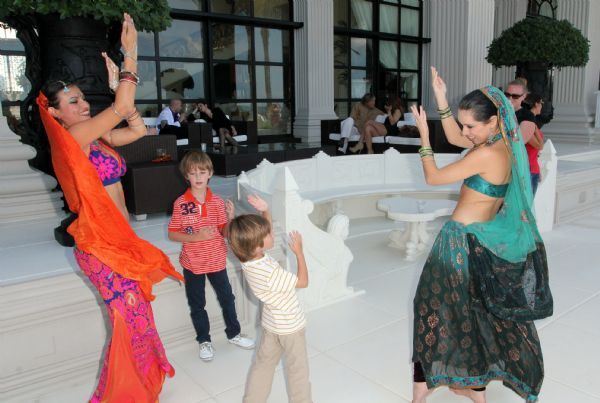 Performing Bollywood dance at Casa Malnik 2012