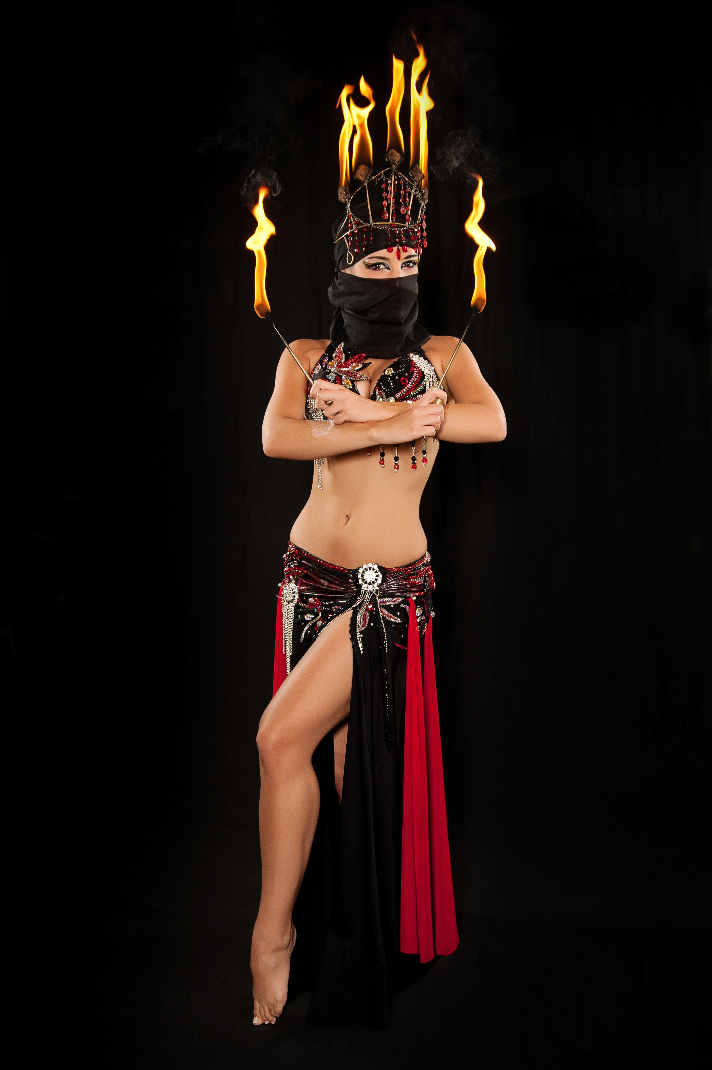 fire crown fire fingers fire dancer belly dancer