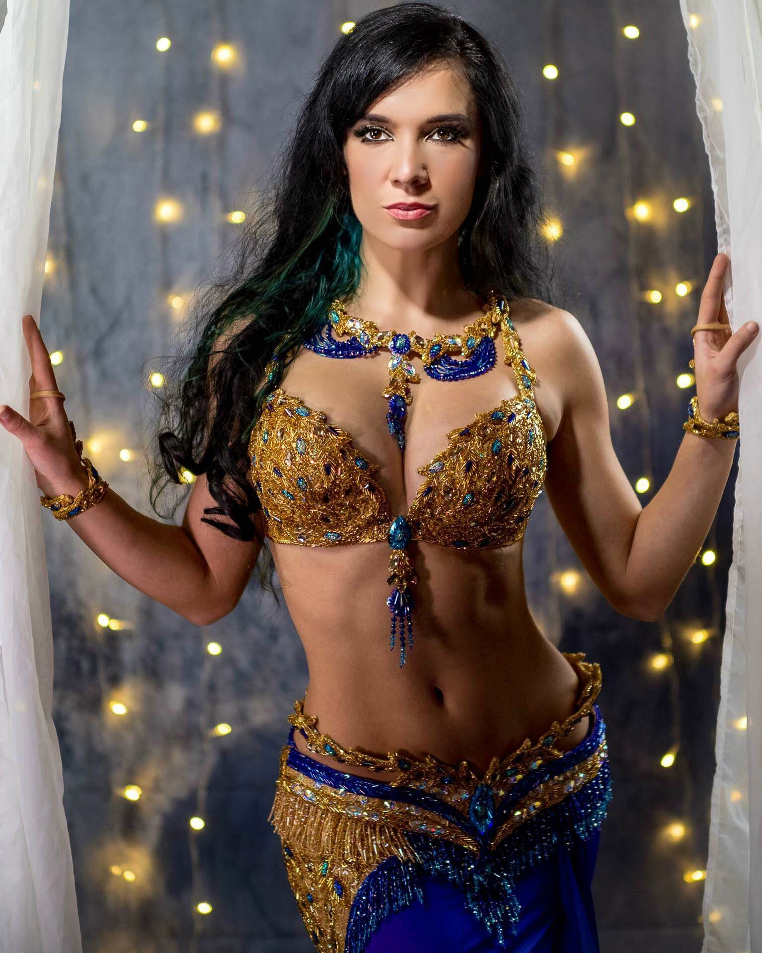Golden Peacock Bella Belly Dance Costume