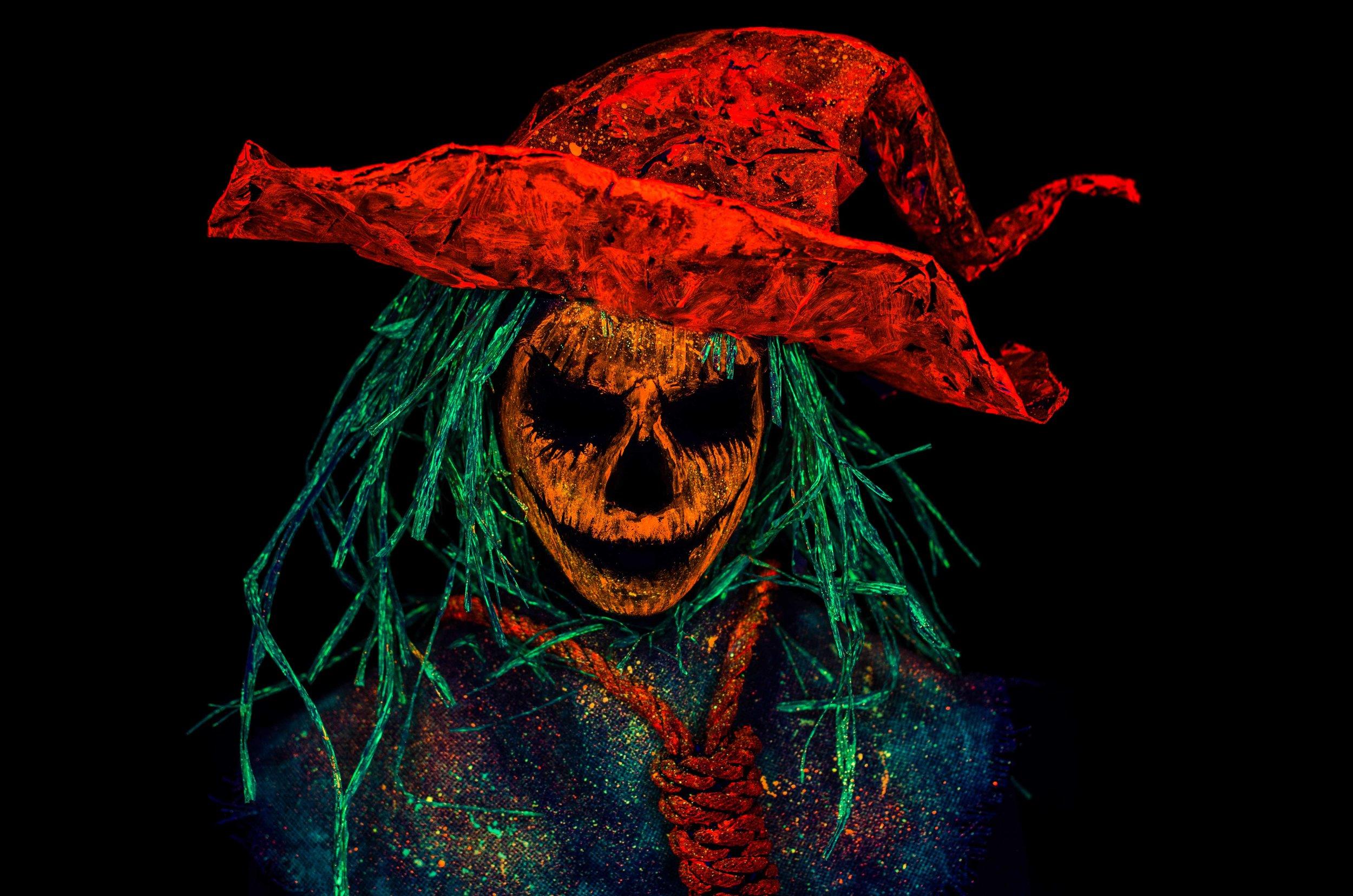 Black Light Halloween Scarecrow