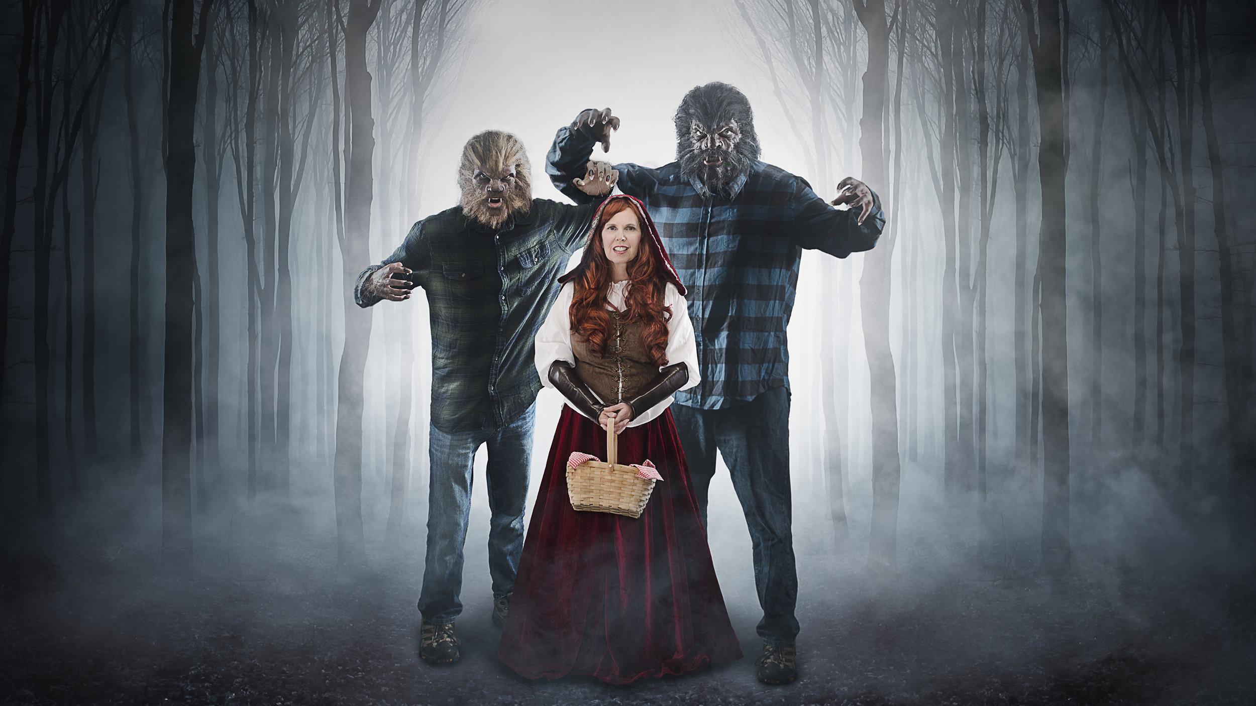 Halloween Family Portrait 2017 - Red Riding Hood Theme