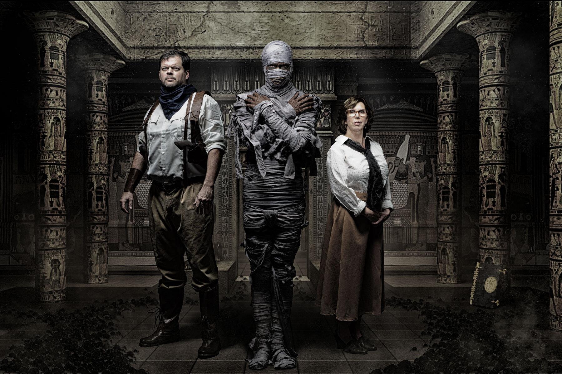 The Mummy Halloween Family Portrait