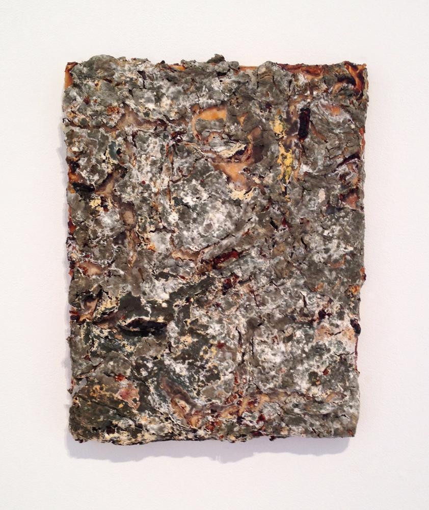 gelatin #1  2012 mixed media on wood  14 X 11 X 0.75 inches