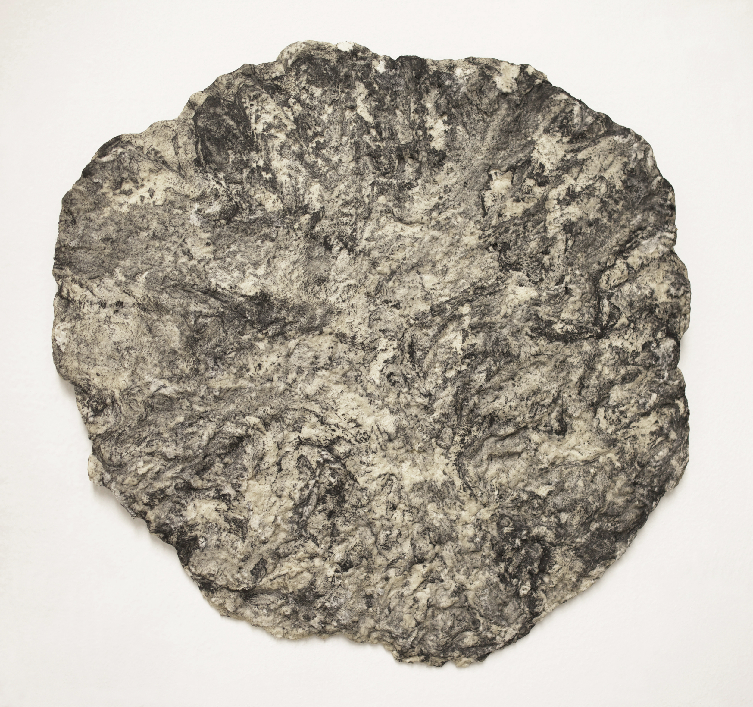 salt round1 2014 salt, flour, graphite 24 inches diameter