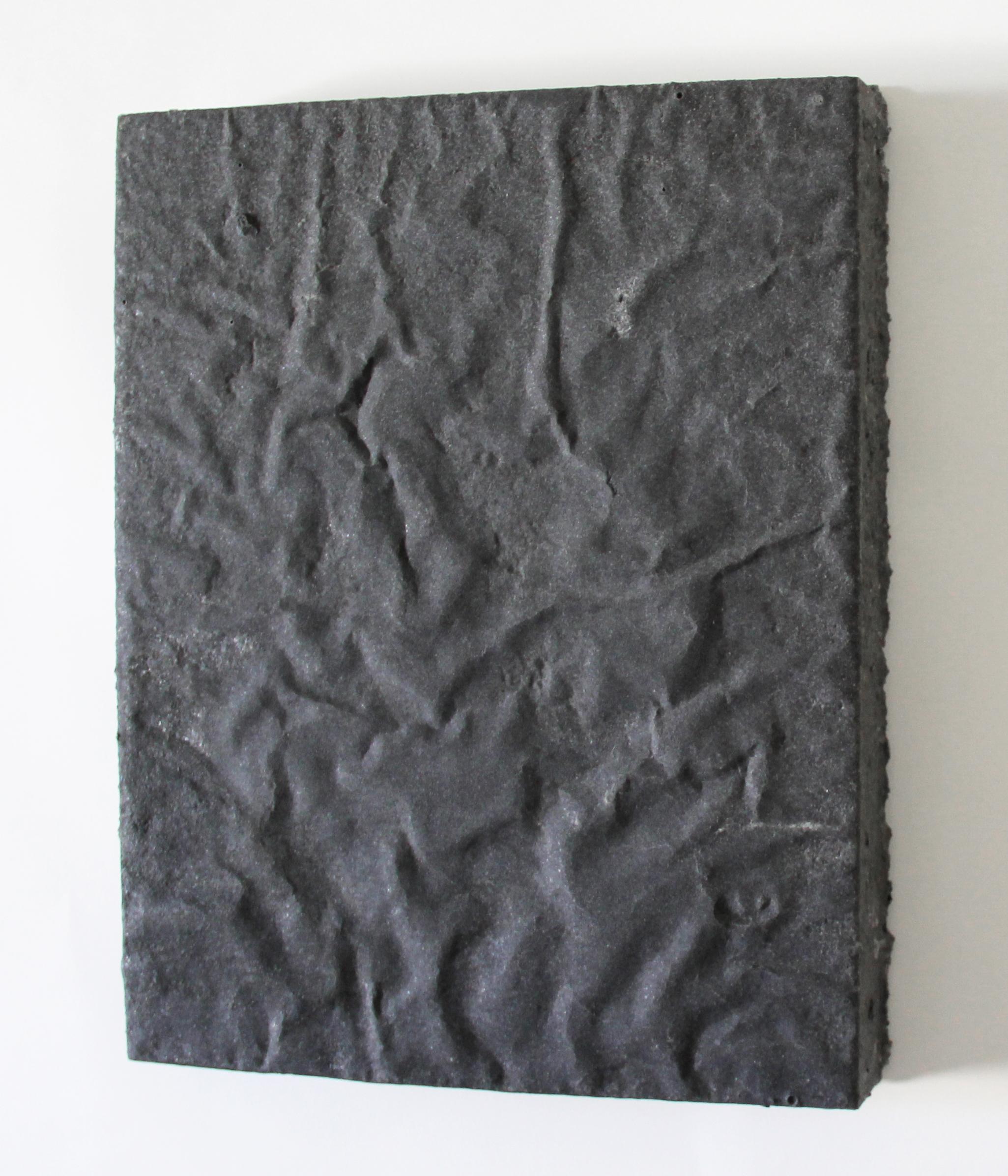 graphite1 2014  graphite, sugar, acrylic on wood  14 x 11 x 0.75 inches