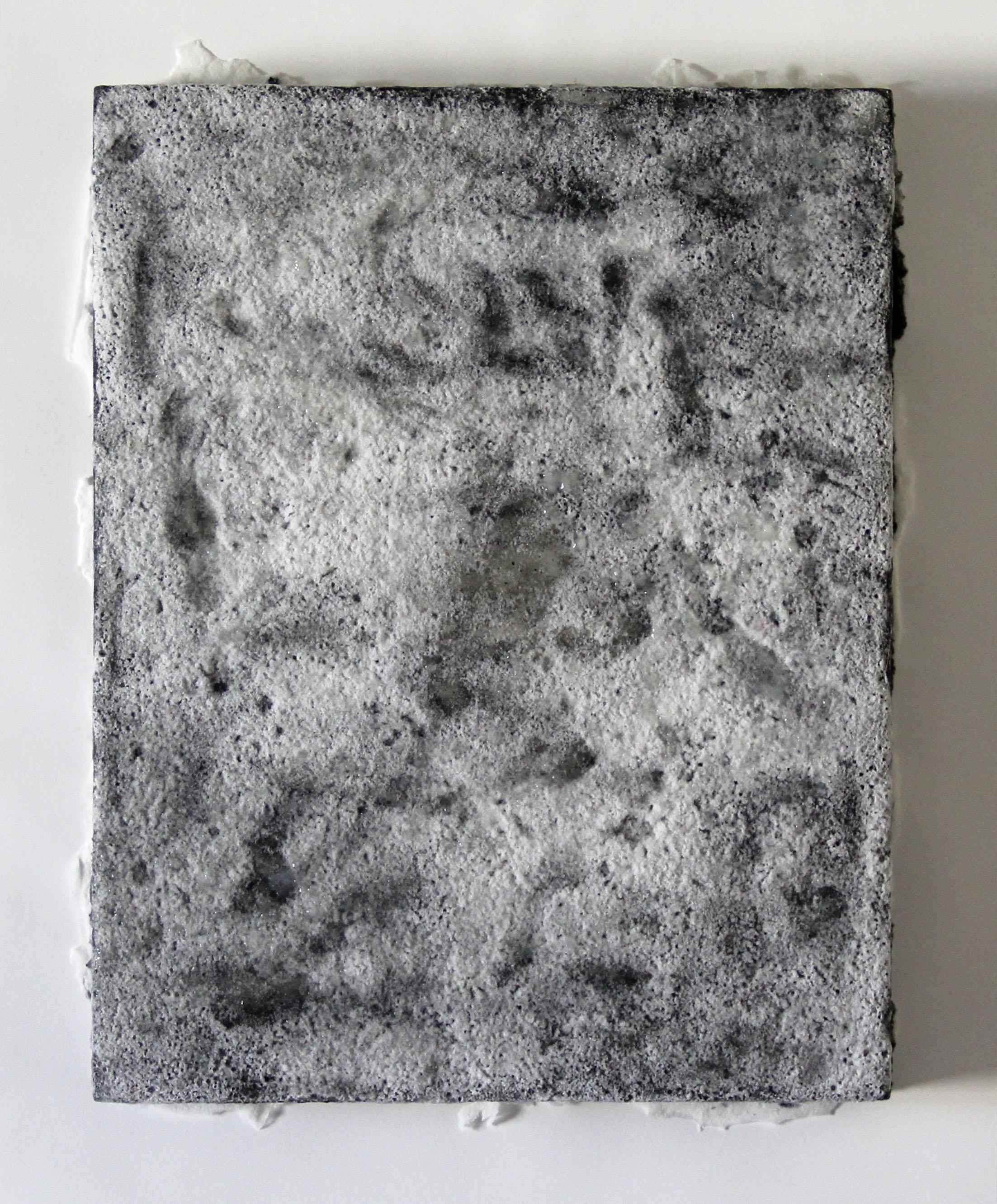 borax 1  2014  borax, graphite, acrylic on plexiglass  14 x 11 x 1.5 inches