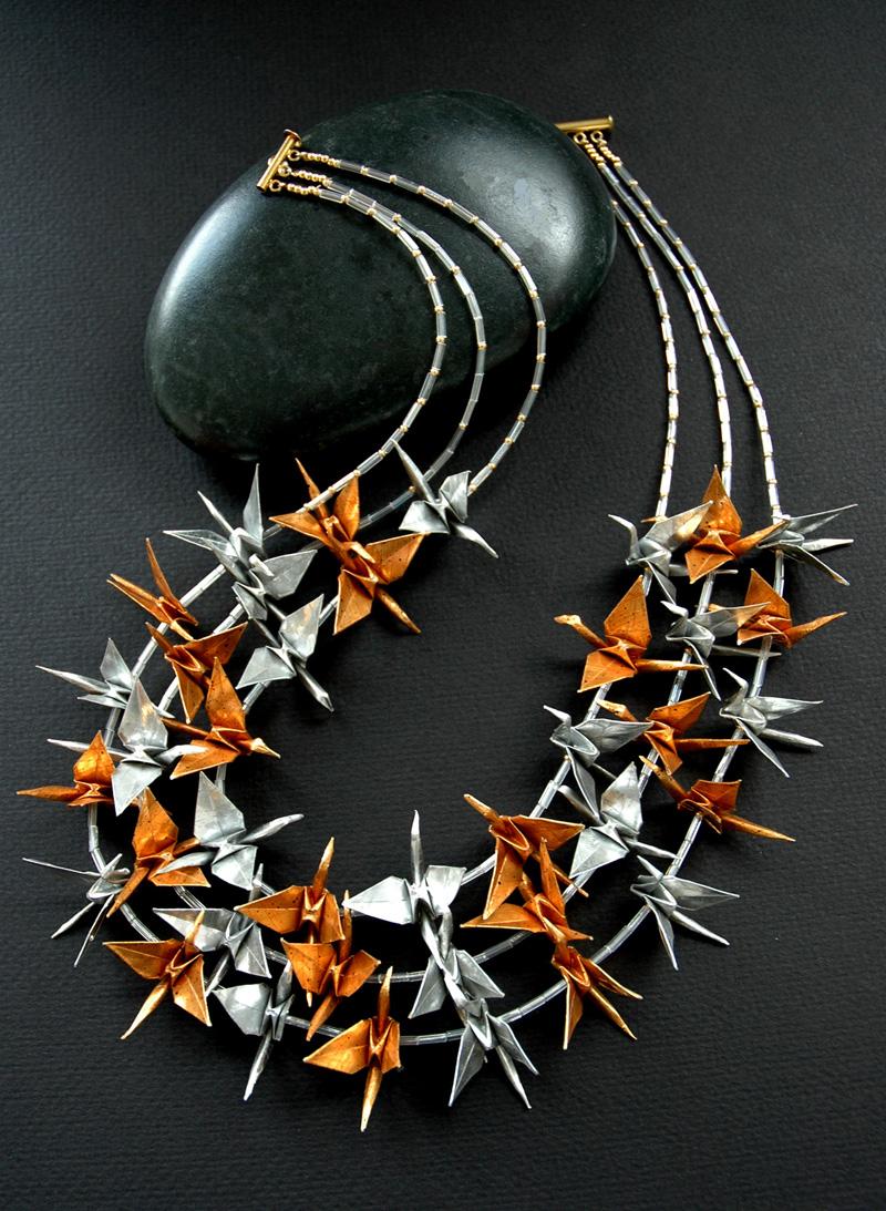 Origami Lady Jewelry - Avant Garde paper jewelry by Marguerite Belkin