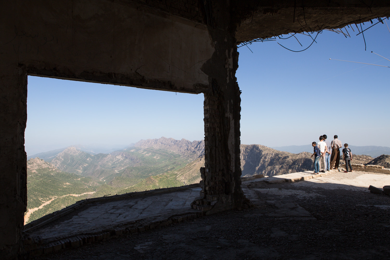Former residency of Saddam Hussein, Gara Mountains, Northern Iraq