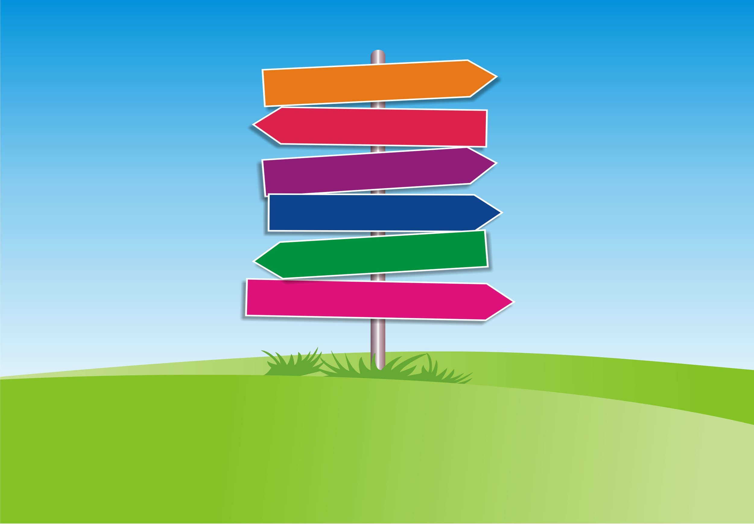 choice-multicolored directional signs.jpg