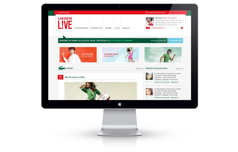 Tweaked design for Lacoste blog