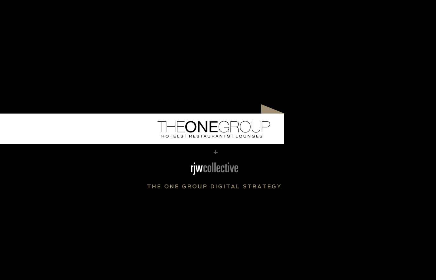 Pitch deck for  The One Group