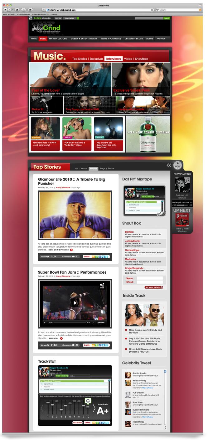 Global Grind website details