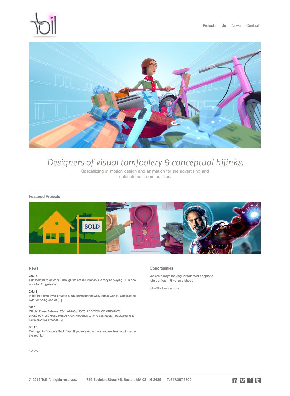 Toil Website details