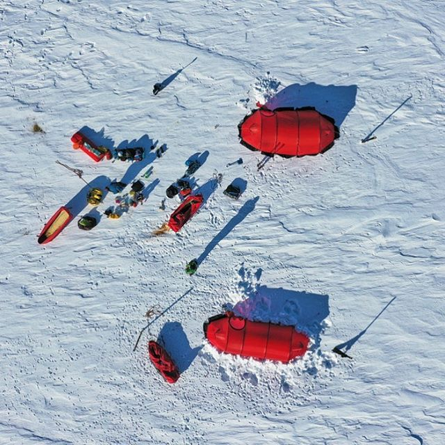 The view from above 1 of the 30 camps on the last Greenland expedition. It looks like @flyingdrpat is having jumble sale again sorting out his gear ;) #greenland #drone #dronephotography #dji #camp #icecamp #photography #drones #expedition #polarexpedition #tent #timetorest #dronestagram #dronepic #greenlandexpeditions