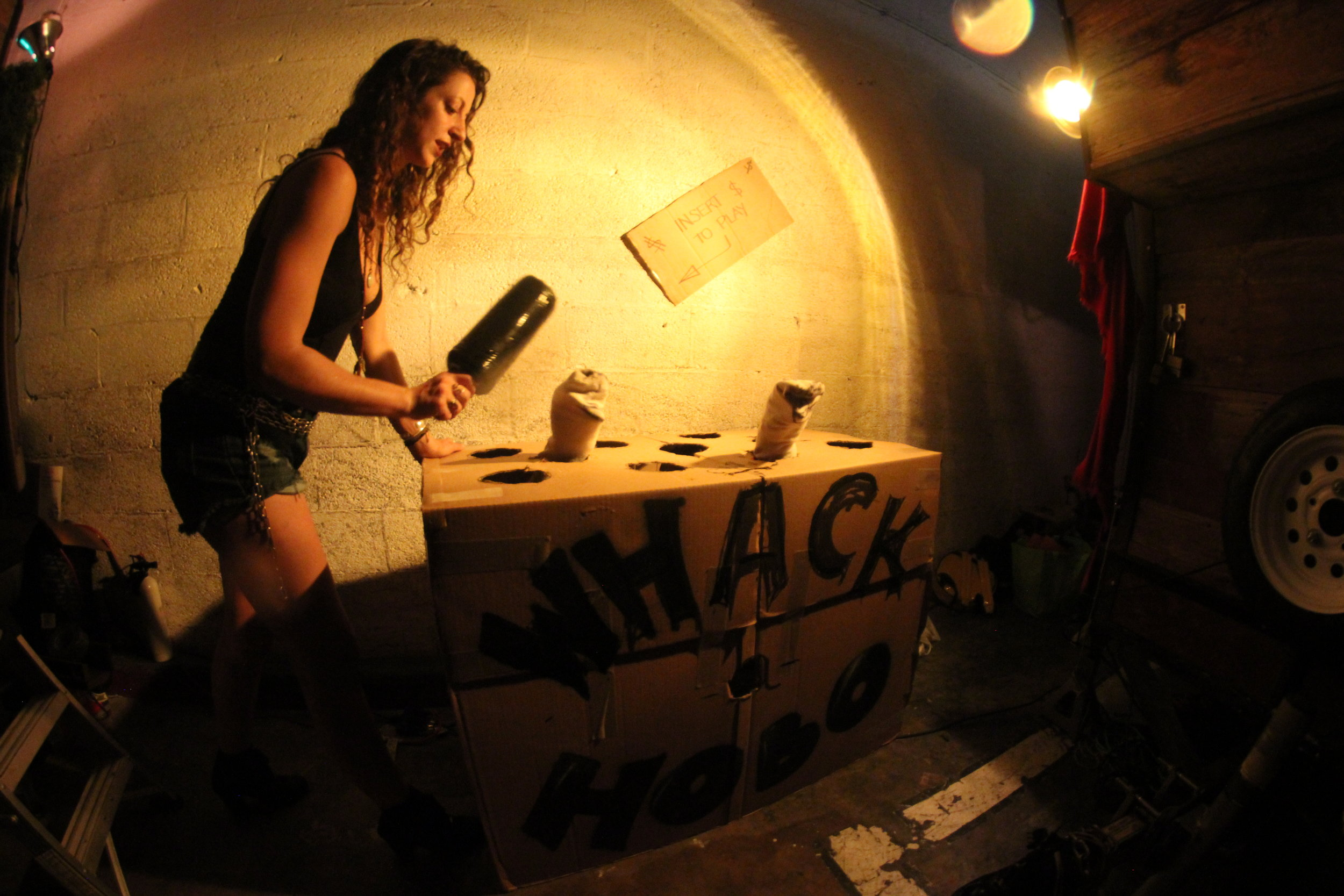 whack a hobo made by shane parez & heather chuck craft