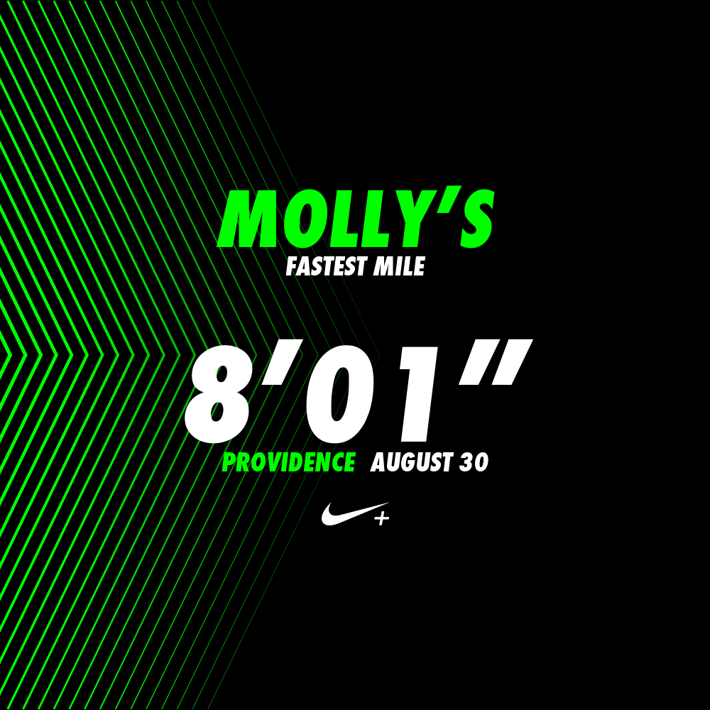 Nike even generated an Instagrammable post to show off my fastest mile time on Sunday