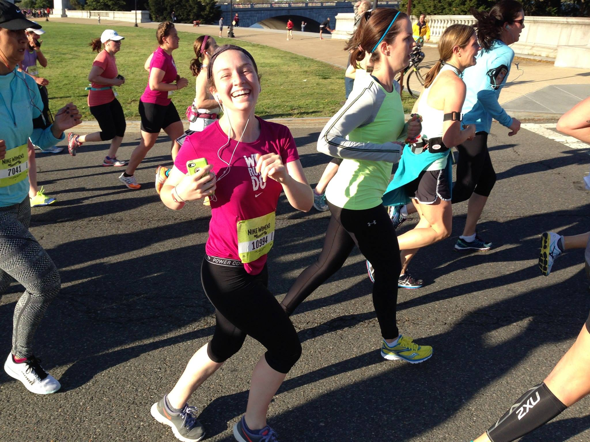 The *perfect* picture of Nike athleticism. (I actually  did have that much fun. #werundc)