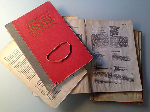 Well worn and loved, my mom still cooks from her mother's first edition, 1960 copy of  Ladies' Home Journal Cookbook.  It's a book that evolved from a magazine by the same name and known for excellent food writing