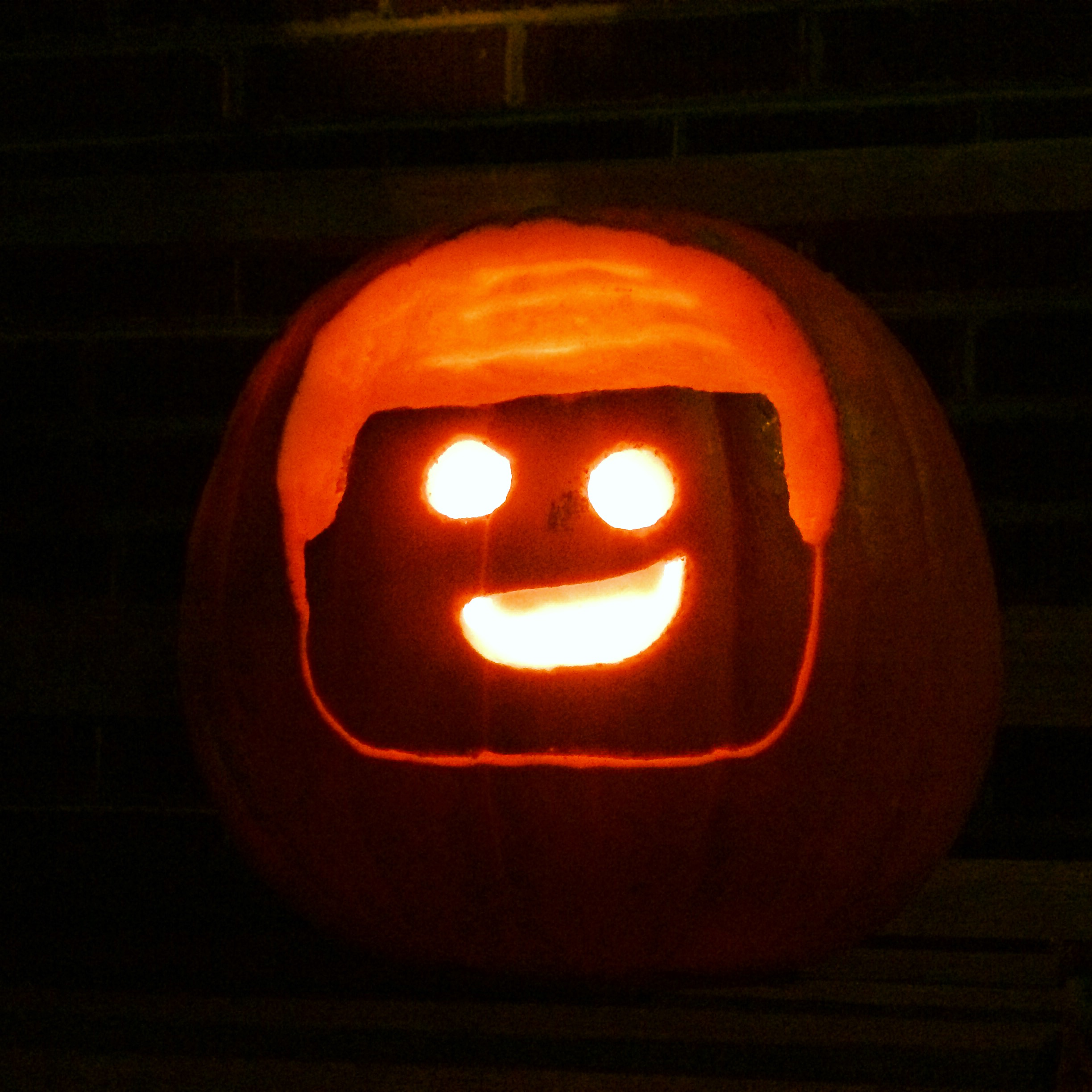 Lego Movie jack'o'lantern