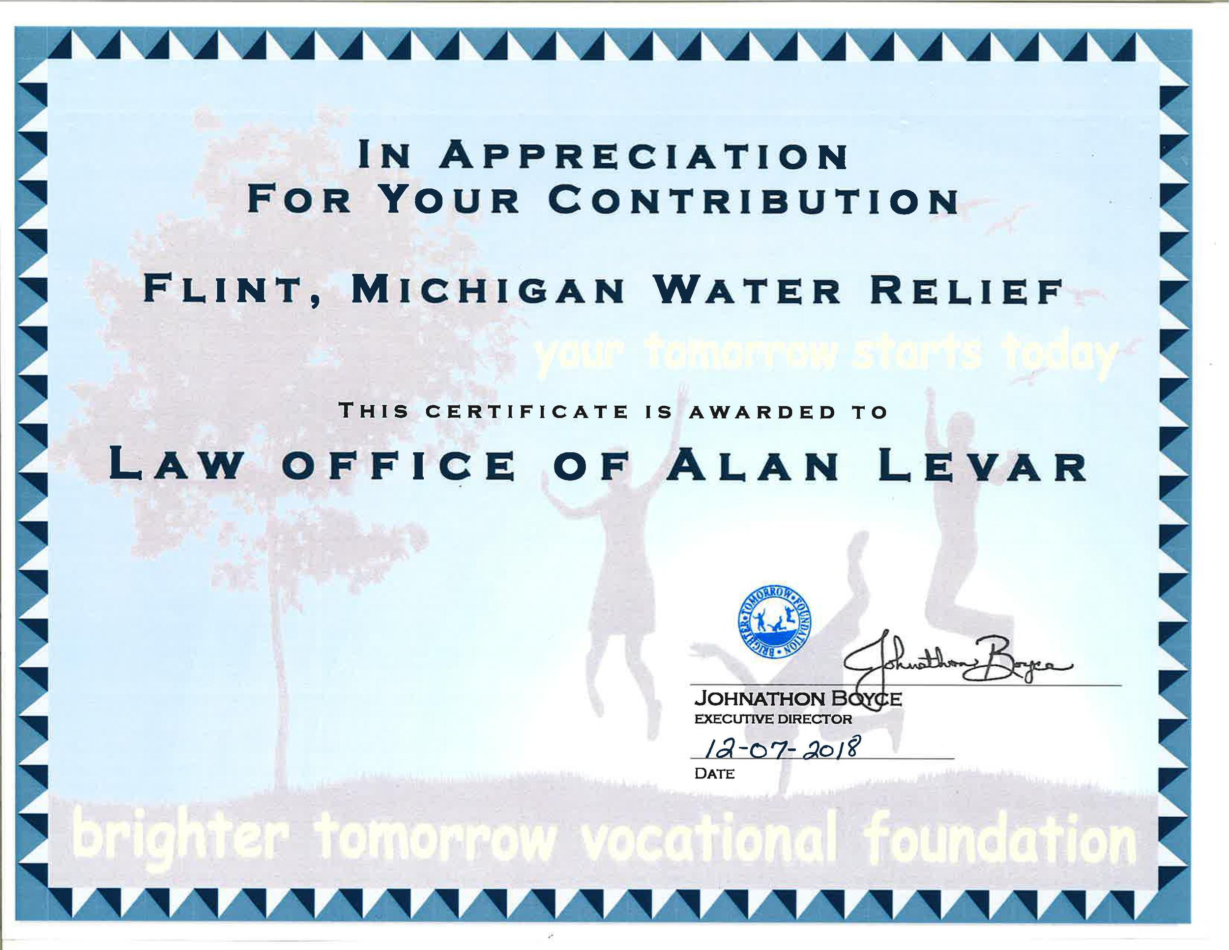 Levar Certificate.png