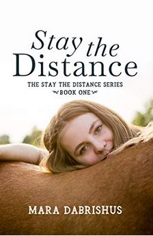 (1) Paperback: Stay the Distance by Mara Dabrishus! - July Carter's world is perfect from the back of a horse. From the ground, everything is a complete mess — her jockey mom ran off years ago and July's certain she could come home at any moment. So certain she puts her life on pause, working with the racehorses after high school instead of preparing for college, like she'd planned. All to see a glimpse of her mother, maybe, one day. Although she's taught herself not to get attached, July can't help connecting with Kali, a hopeless filly that refuses to run when it counts. July is determined to save Kali from the claiming races.. (click here for full description)