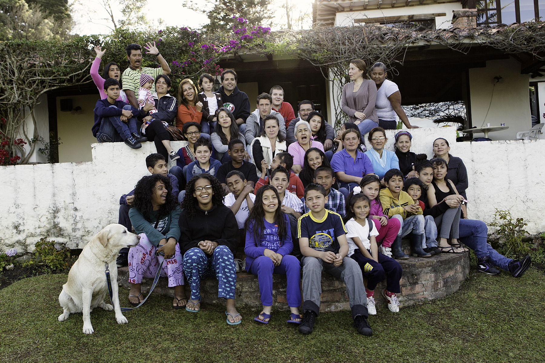 Stetson Shutterbugs and Grupo Flormoado members (with familes) in Villa del Leyva, August 2012