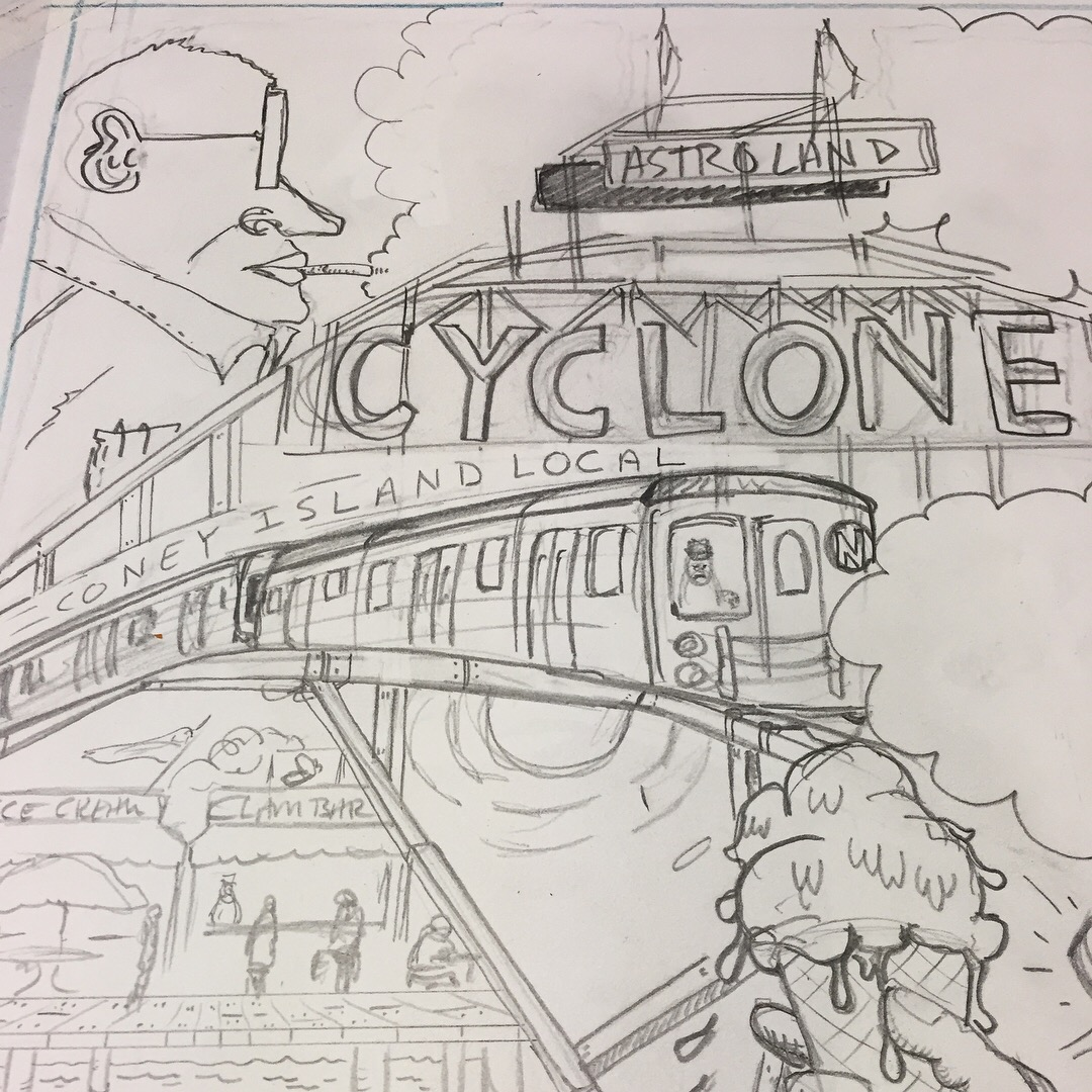 John and the Cyclone - New Shop Comic Broadside coming this summer featuring tales of my grandparents at Coney Island.  Full color posters coming soon!
