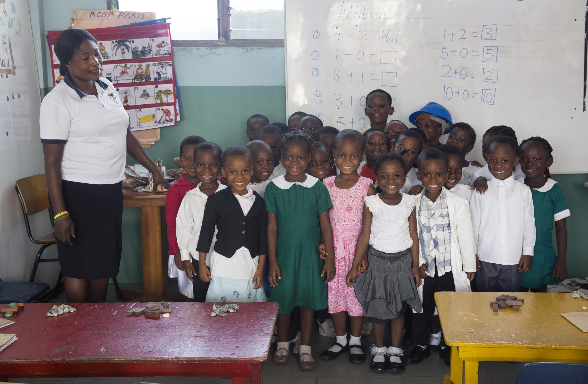 Brainbirds' Kindergarten class in their Career Wear