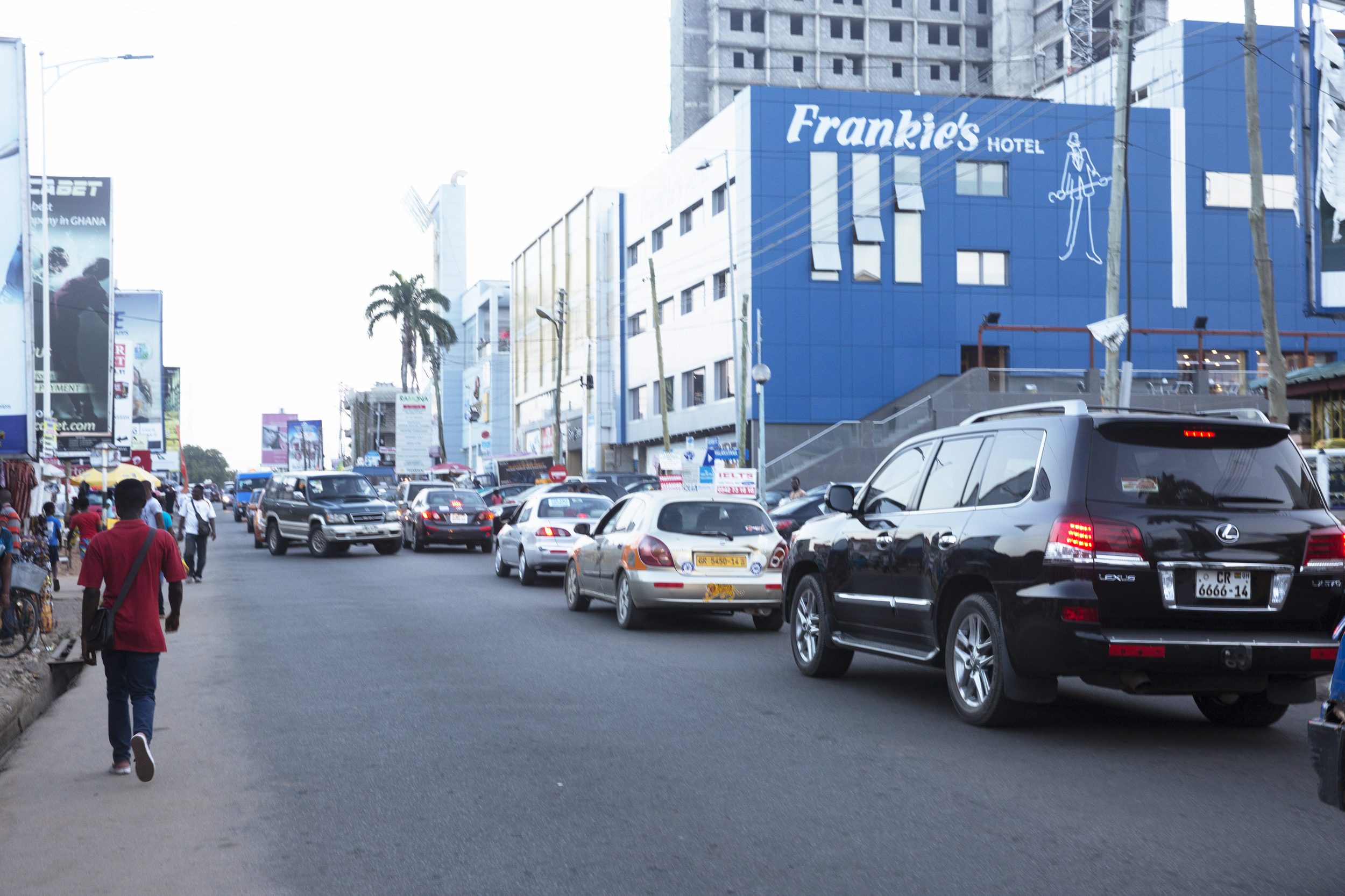 Oxford Street (mirrored after the one in London)in Osu:one of the nicest neighborhoods in Accra.