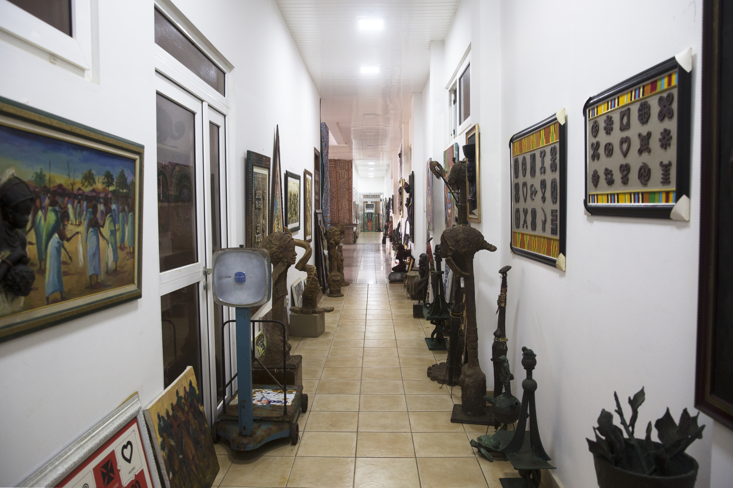 The first floor of the gallery.