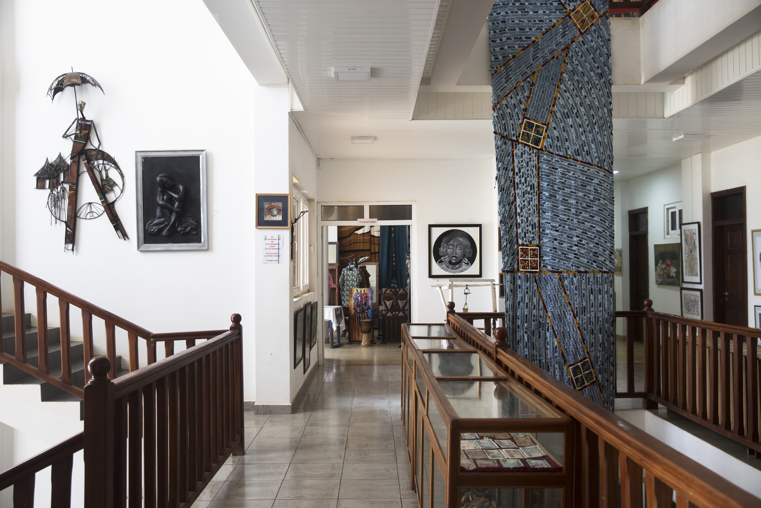 The second floor of the gallery.