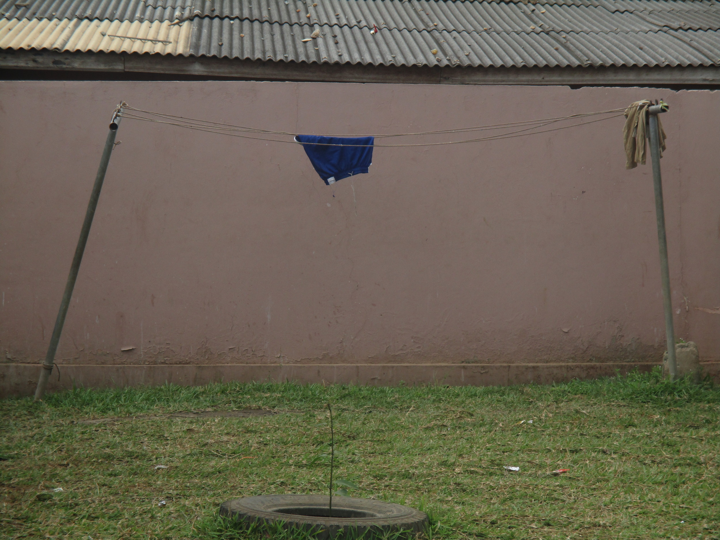 A shot of one of the school's clothes lines by  Sowah, Class 6.