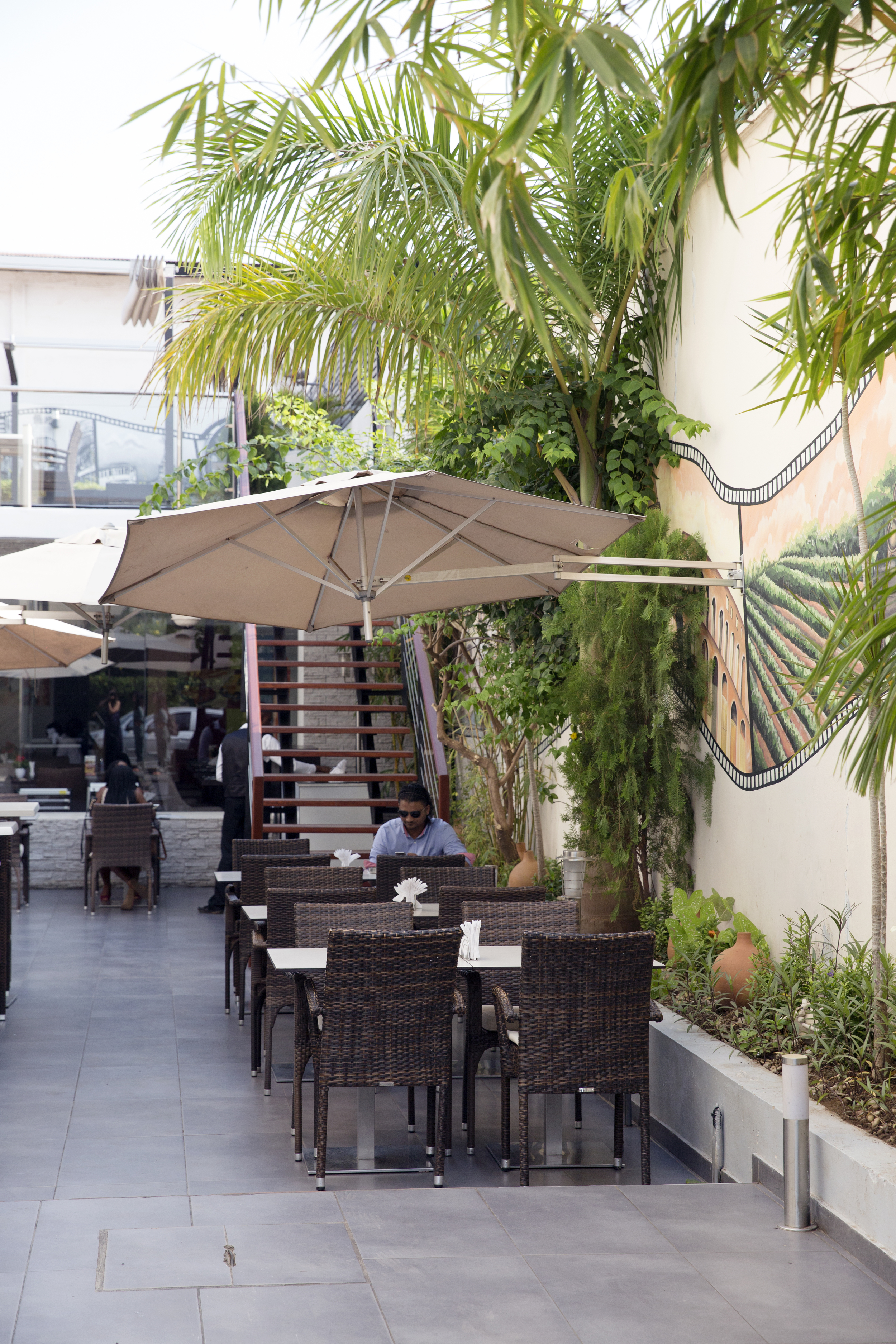 The outside patio of La Piazza.