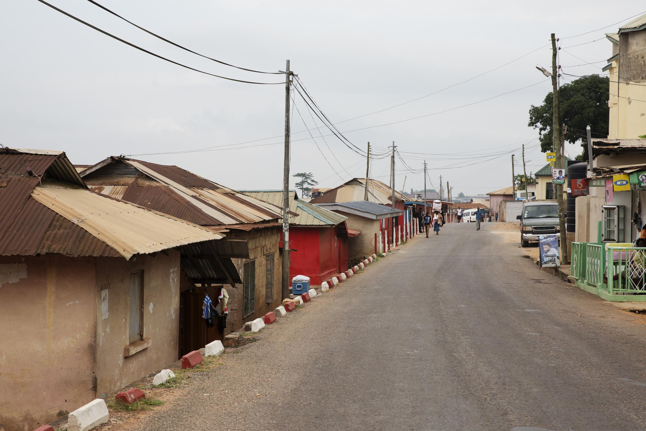 Here is the super cute town of Aburi (pronounced Ah-bree)!
