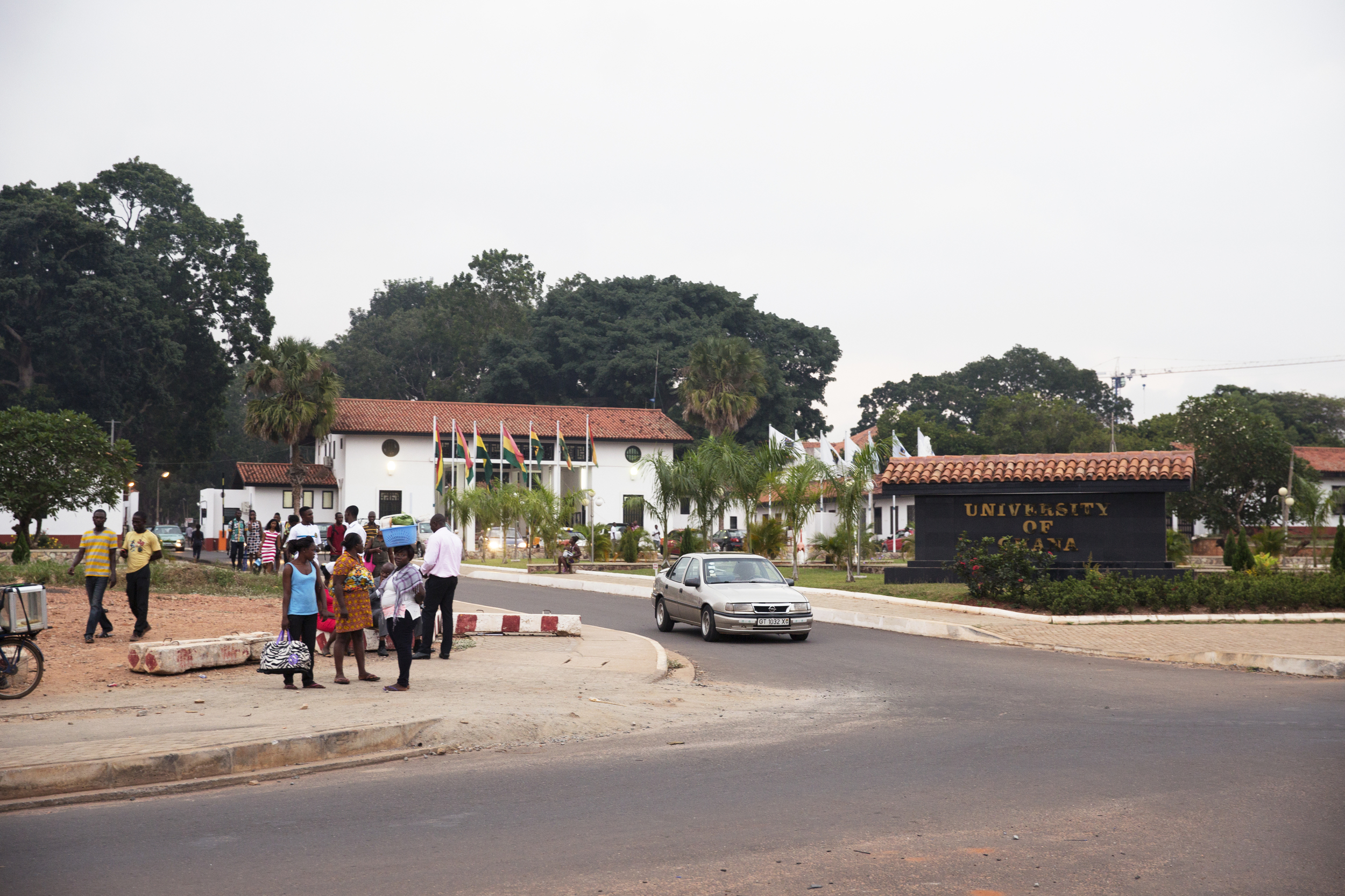 An exterior view of the University of Ghana.