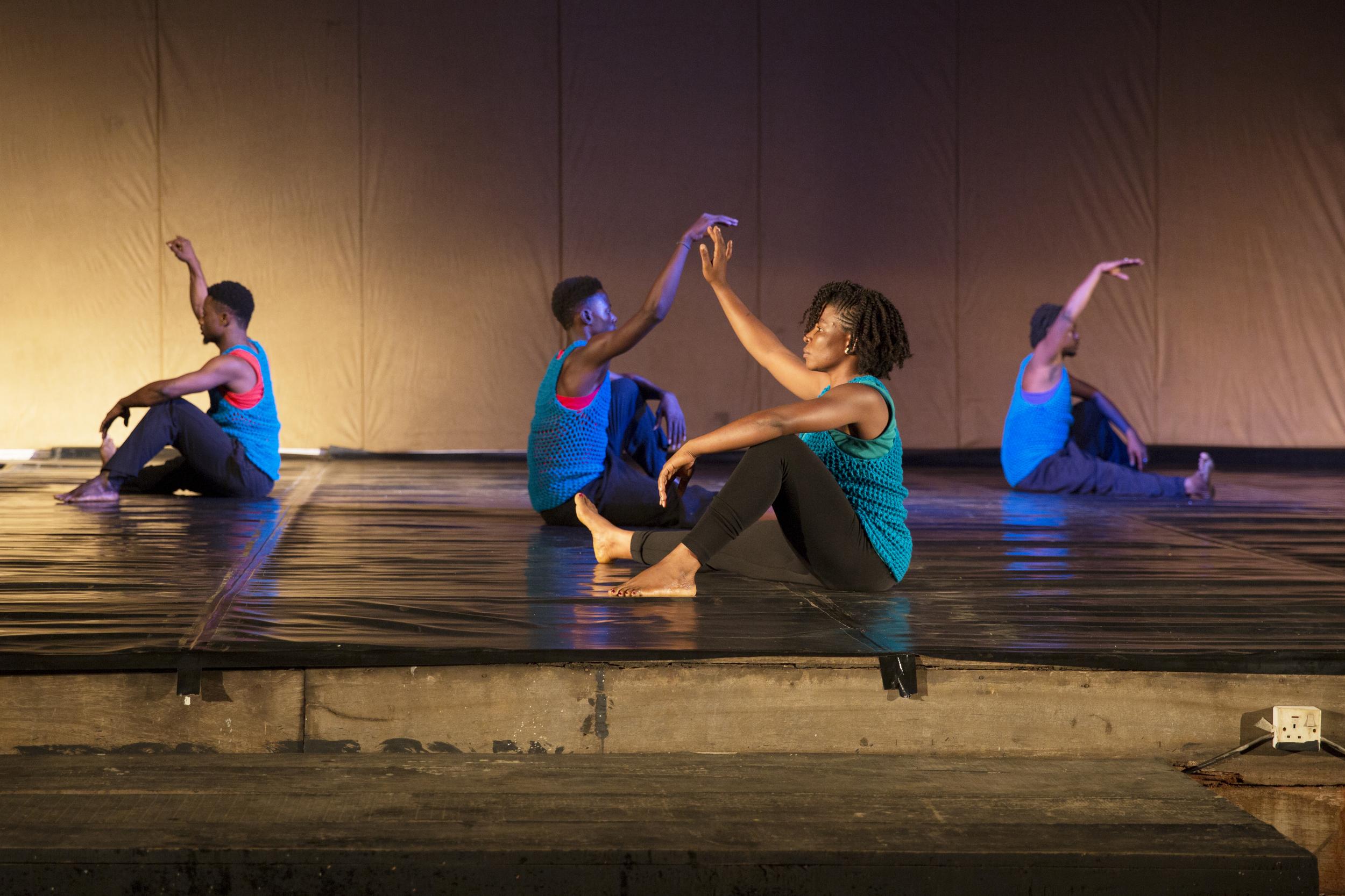 Cynthia Onoma, Ebenezer Nii Aqwei Addotey, Jeremiah O. Atcheah, and Stephen Kofi Agyekum perform in the first dance.