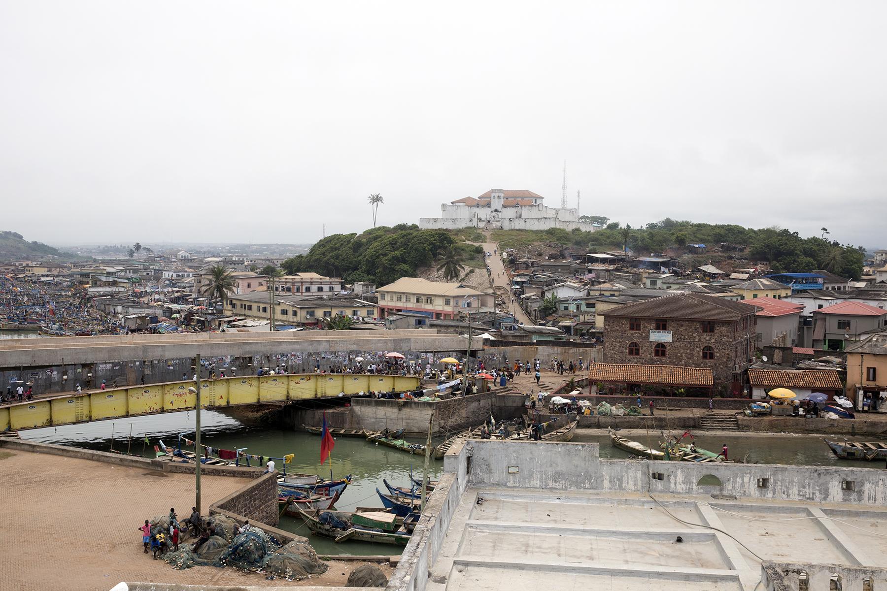 An aerial view of Elmina