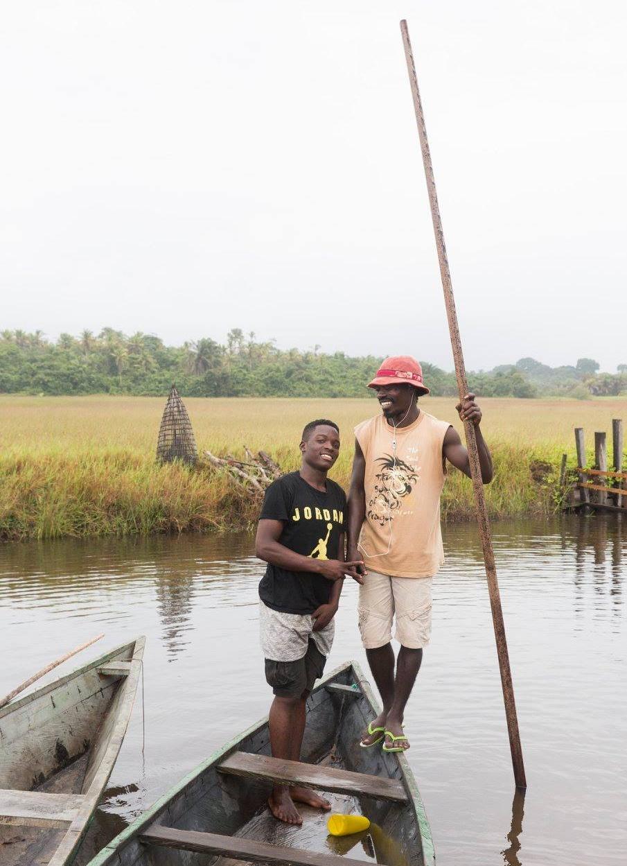 My canoe mates: Thomas and Randolph.